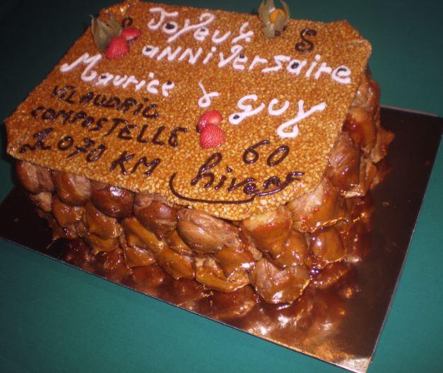 gâteau en choux et nougatine